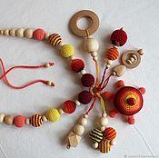 "Одежда handmade. Livemaster - original item Slingobusy with rattle toy "" Тurtle"". Handmade."