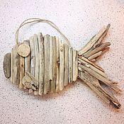 Для дома и интерьера handmade. Livemaster - original item Driftwood Nautical fish double sided. Handmade.