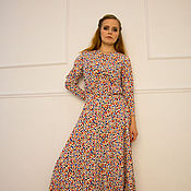 Одежда ручной работы. Ярмарка Мастеров - ручная работа Платье празднично-повседневное. Handmade.