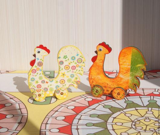 Персональные подарки ручной работы. Ярмарка Мастеров - ручная работа. Купить Петушки-каталки. Handmade. Петух, год петуха, сувениры