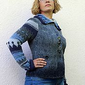"Одежда ручной работы. Ярмарка Мастеров - ручная работа Жакет валяный ""Трамонтана"". Handmade."