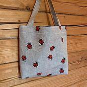 Сумка-шоппер ручной работы. Ярмарка Мастеров - ручная работа Льняная сумка. Handmade.