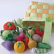 Куклы и игрушки ручной работы. Ярмарка Мастеров - ручная работа Овощная корзинка - развивающая игрушка. Handmade.