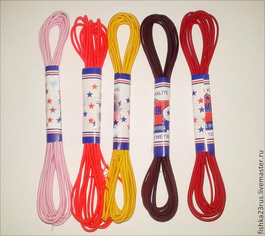 Шитье ручной работы. Ярмарка Мастеров - ручная работа. Купить Резинка - шнур (шляпная резинка) 3 мм. Handmade. Разноцветный
