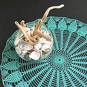 Для дома и интерьера ручной работы. Ярмарка Мастеров - ручная работа Салфетка крючком Море в банке. Handmade.