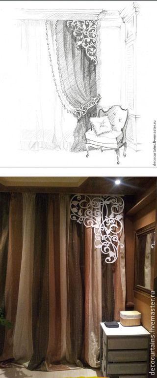 Дизайн интерьеров ручной работы. Ярмарка Мастеров - ручная работа. Купить МЕТРОВЫЕ УГЛОВЫЕ МОДУЛИ НА ШТОРЫ/ТКАНЬ/КОЖА/ПЛАСТИК. Handmade. Ламбрекен