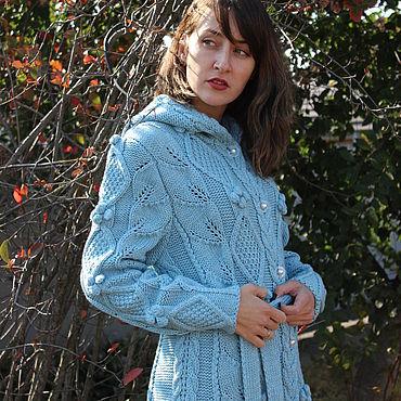 """Одежда ручной работы. Ярмарка Мастеров - ручная работа Пальто """" Голубые дали"""". Handmade."""