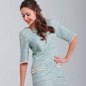 Одежда ручной работы. Ярмарка Мастеров - ручная работа Платье из хлопкового твида. Handmade.