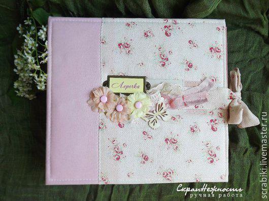 """Фотоальбомы ручной работы. Ярмарка Мастеров - ручная работа. Купить Фотоальбом первого года для девочки """"Лерочка"""". Handmade. Розовый, Скрапбумага"""