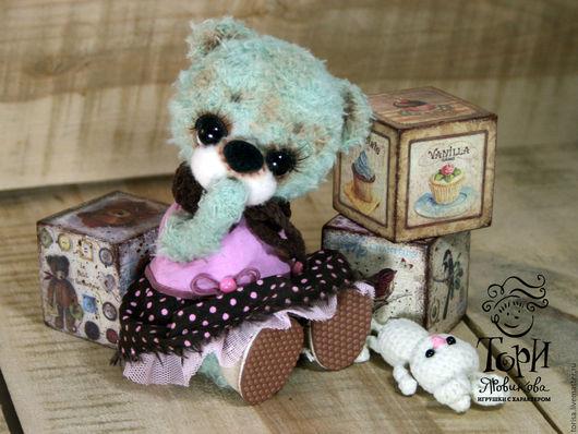 Мишки Тедди ручной работы. Ярмарка Мастеров - ручная работа. Купить Мишка Бусинка. Handmade. Подарок подруге сестре