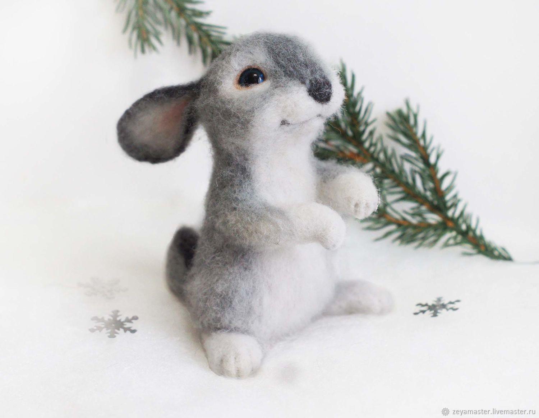 Rabbit Romka Interior felted toy, Felted Toy, Zeya,  Фото №1