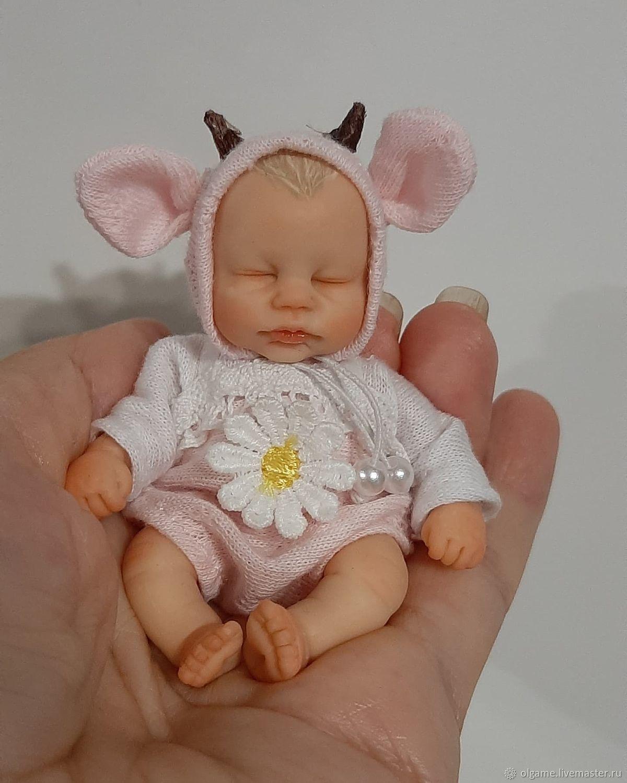 авторская кукла, мини пупсик, Куклы и пупсы, Владивосток,  Фото №1