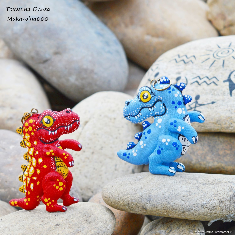 Динозаврики брелоки. Ароматный сувенир