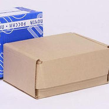 Материалы для творчества ручной работы. Ярмарка Мастеров - ручная работа Почтовая коробка Д №2 бурая. Handmade.