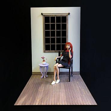 Куклы и игрушки ручной работы. Ярмарка Мастеров - ручная работа Румбокс с окном для кукол 1:6 (Барби, Блайз, Монстер Хай и пр.). Handmade.