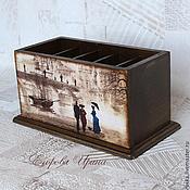 Для дома и интерьера handmade. Livemaster - original item Stand for remotes and mobile phones Romance dozhdya2. Handmade.