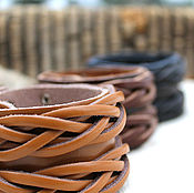 Украшения handmade. Livemaster - original item Leather bracelets