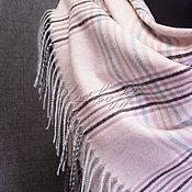 Аксессуары handmade. Livemaster - original item Pink checkered shawl made from Italian fabric. Handmade.