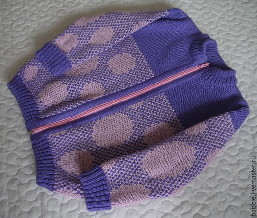 """Одежда для девочек, ручной работы. Ярмарка Мастеров - ручная работа. Купить Жакет """"Горошки"""". Handmade. Комбинированный, кардиган для девочки"""