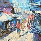 Город ручной работы. Ярмарка Мастеров - ручная работа. Купить Портовый город. Handmade. Город, порт, импрессионизм, мастихин, солнце