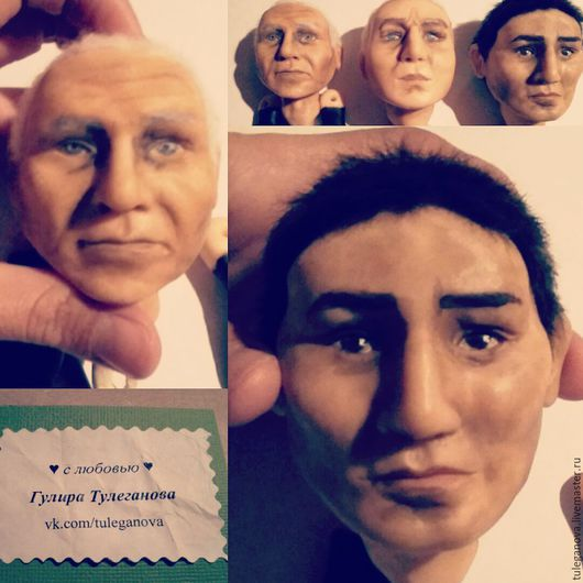 Коллекционные куклы ручной работы. Ярмарка Мастеров - ручная работа. Купить Лица для кукол. Handmade. Бежевый, лицо куклы