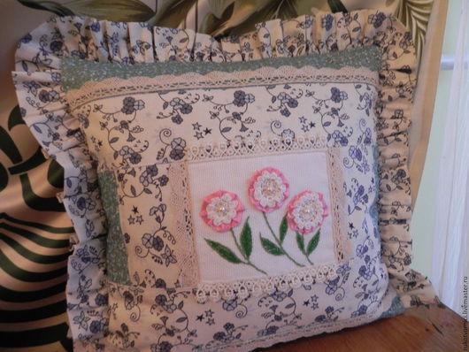 Текстиль, ковры ручной работы. Ярмарка Мастеров - ручная работа. Купить декоративная подушка в прованском стиле. Handmade. Подушка