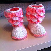 Обувь ручной работы. Ярмарка Мастеров - ручная работа пинетки для новорожденных. Handmade.
