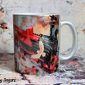 Посуда handmade. Livemaster - original item Mug exclusive Harry Potter Hogwarts Express silver art. Handmade.