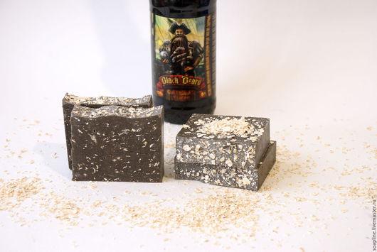 """Мыло ручной работы. Ярмарка Мастеров - ручная работа. Купить """"Oatmeal Stout"""" натуральное пивное мыло с нуля. Handmade. Коричневый"""