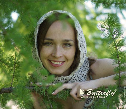 Капюшоны ручной работы. Ярмарка Мастеров - ручная работа. Купить Капр (капюшон) женский летний серый. Бохостиль. Handmade.