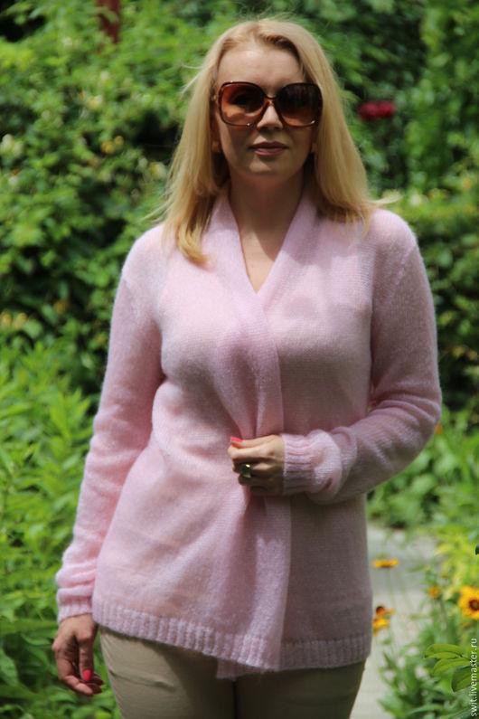 """Кофты и свитера ручной работы. Ярмарка Мастеров - ручная работа. Купить Кардиган """"Розовое облако"""". Handmade. Бледно-розовый"""