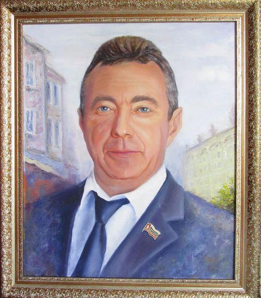 Люди, ручной работы. Ярмарка Мастеров - ручная работа. Купить Портрет VIP на заказ по фото (масло, холст 50/60). Handmade.
