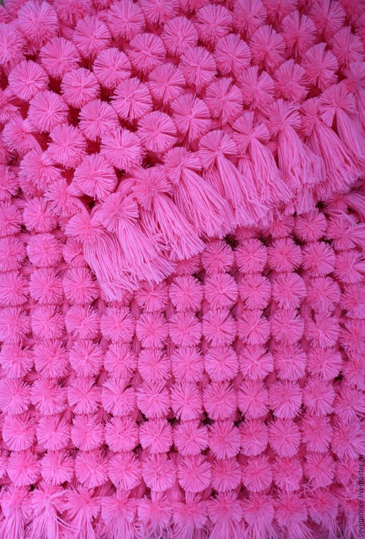 Пледы и одеяла ручной работы. Ярмарка Мастеров - ручная работа. Купить Детский плед из помпонов + шапочка. Handmade. Розовый