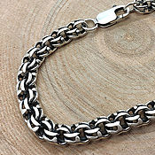 Украшения handmade. Livemaster - original item Bracelet Bismarck. 925 sterling silver weight about 20gr. art.One million ninety five thousand nine . Handmade.