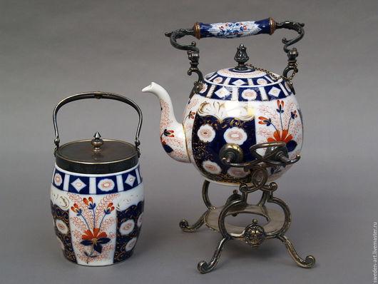 Винтажная посуда. Ярмарка Мастеров - ручная работа. Купить выст .экзDelft- фарфоровый  чайник бульотка 19 века с банкой для чая. Handmade.