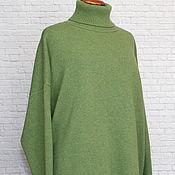 Одежда handmade. Livemaster - original item R. .48-56. Sweater cashmere oversize loose shoulder spring needles. Handmade.