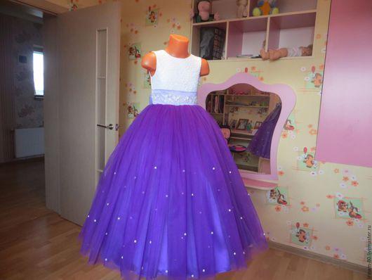 Одежда для девочек, ручной работы. Ярмарка Мастеров - ручная работа. Купить Нарядное платье для девочки. Handmade. Пышное платье