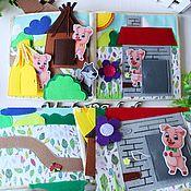 Куклы и игрушки handmade. Livemaster - original item A great educational book felt
