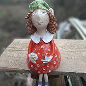 Куклы и игрушки handmade. Livemaster - original item Doll Girl in red. Handmade.