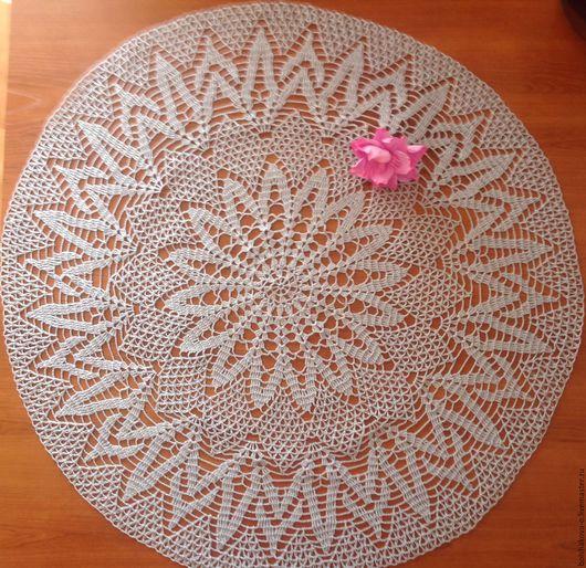 Текстиль, ковры ручной работы. Ярмарка Мастеров - ручная работа. Купить Салфетка серая. Handmade. Серый, ажурная салфетка