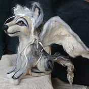 Куклы и игрушки handmade. Livemaster - original item Felted winged wolf. Handmade.