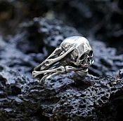 Украшения handmade. Livemaster - original item Silver men`s skull ring