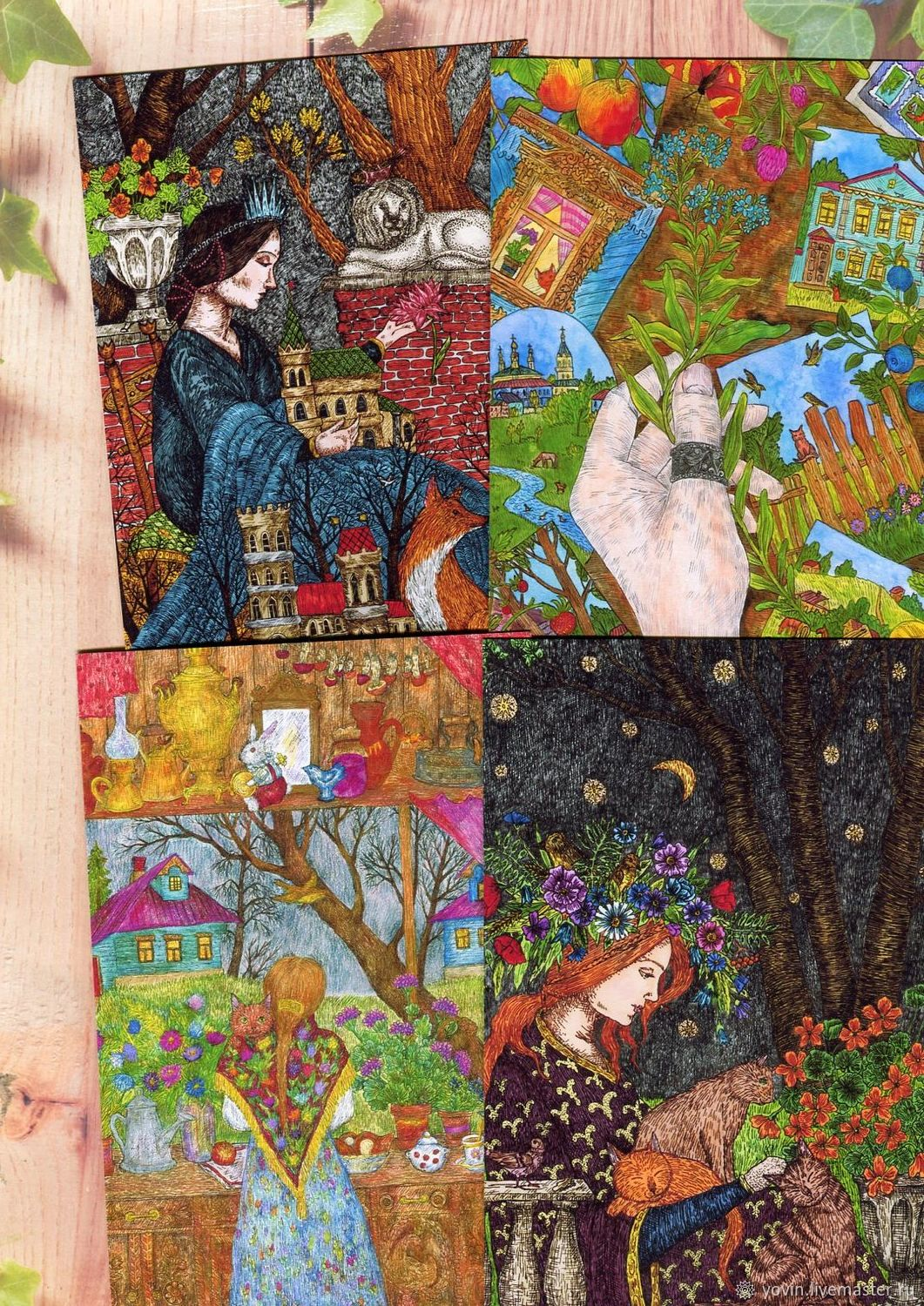 Postcard set 13 pieces Beautiful postcards to a woman, Cards, St. Petersburg,  Фото №1
