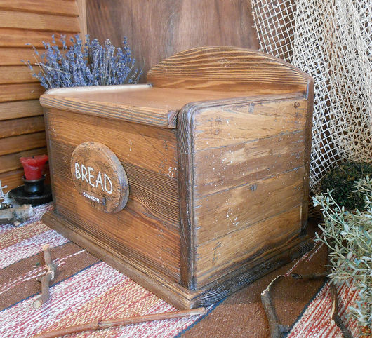 Кантри стиль в интерьере. Кухня в стиле кантри. Деревянная хлебница из сосны. Хлебница из дерева купить. `LedaksDecor` для уютного дома!
