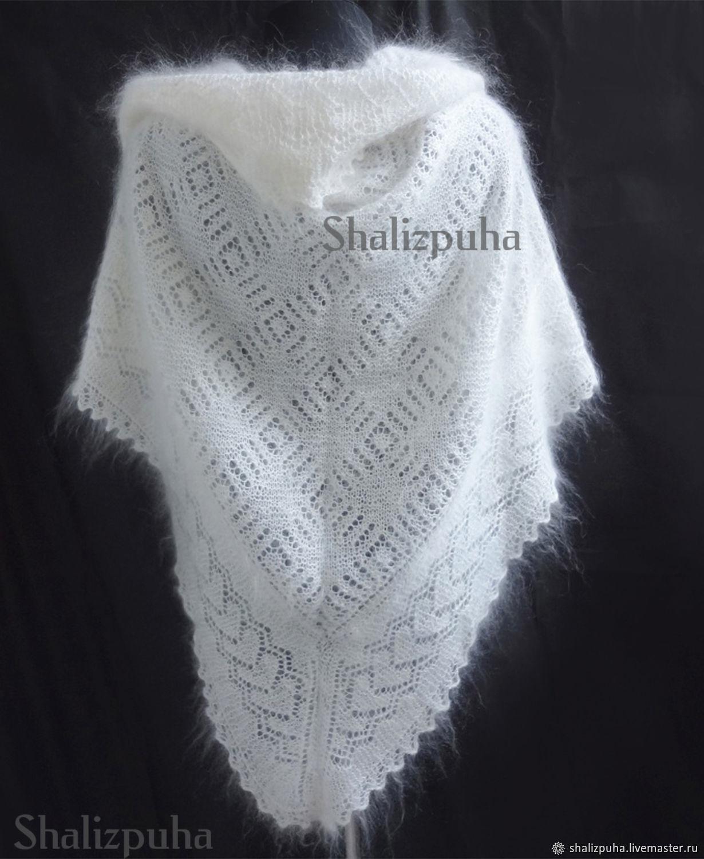 handmade white down scarf, ,128, Shawls, Orenburg,  Фото №1