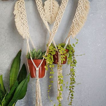 Цветы и флористика ручной работы. Ярмарка Мастеров - ручная работа Двойное кашпо для цветов. Handmade.