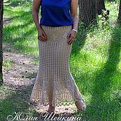 Одежда ручной работы. Ярмарка Мастеров - ручная работа Вязаная юбка, юбка в пол, юбка  крючком. Handmade.