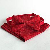 Аксессуары handmade. Livemaster - original item Red tie necktie Red Hot Chili Pepper pocket square. Handmade.