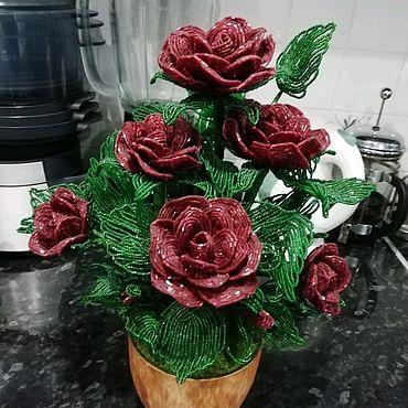 Цветы и флористика ручной работы. Ярмарка Мастеров - ручная работа Композиция из роз. Handmade.