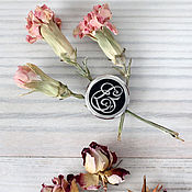 Украшения handmade. Livemaster - original item Silver brooch-badge with Monogram. Handmade.